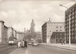 GERMANY - Leipzig 1973 - Blick V. Bayrischen Platz Zum Rathaus - Tramway - Leipzig