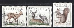 SVEZIA - 1992 - FAUNA - ANIMALI SELVATICI - USATI - Oblitérés