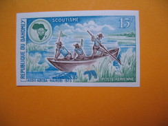 Timbre Non Dentelé   N° PA 185  Congrès Internationaux Du Scoutisme à Addis-Abeba Et à Nairobi  1973 - Bénin – Dahomey (1960-...)