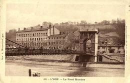 10 - CPA - LYON - Le Pont Mouton - Animée - 1917 - (n&b) - - Lyon 9