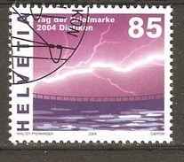 Zu 1139 / Mi 1896 / YT 1824 Journée Du Timbre 2004 éclair Obl 1er Jour SBK 2,50 - Switzerland