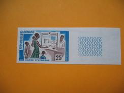Timbre Non Dentelé   N° 198  Caisse D'Epargne  1966 - Gabon (1960-...)