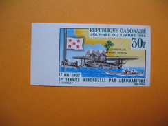 Timbre Non Dentelé   N° 201  Journée Du Timbre   1966 - Gabon