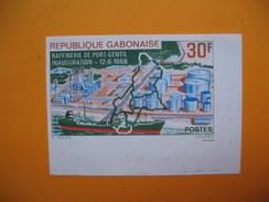 Timbre Non Dentelé   N° 229  Inauguration De La Raffinerie De Port-Gentil   1968 - Gabon (1960-...)