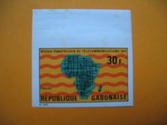 Timbre Non Dentelé   N° 270   Réseaux Panafricains De Télécommunications   1971 - Gabon