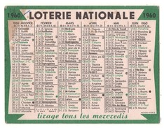 CALENDRIER 1960 LOTERIE NATIONALE - Réf. N°17926 - - Calendriers
