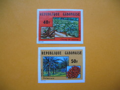 Timbre Non Dentelé   N° 336 Et 337  Agriculture  1974 - Gabon (1960-...)