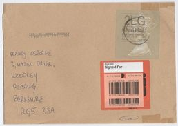 2014 GB ROYAL MAIL SIGNED FOR COVER Franked  2LG POSTAGE PAID UK 4 HX2 ROYAL MAIL F LABEL Stamps - 1952-.... (Elizabeth II)