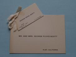 GEORGE ROYAL SCOTT Born June 1st 1910 ( Mr. And Mrs. George FLOYD SCOTT Rust, California ) - ( Zie Foto's ) - Birth & Baptism