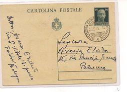 1975) Intero Postale Luogotenenza 1945 60c Bologna Palermo - Poststempel