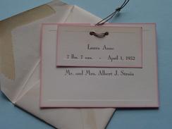 LAURA ANNE April 1, 1952 ( Mr. And Mrs. Albert J. STRAIN ) - ( Zie Foto's ) - Birth & Baptism