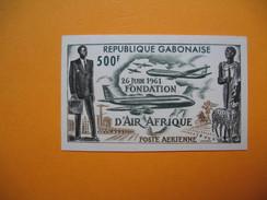 Timbre Non Dentelé   N° PA 5  Fondation De La Compagnie Air Afrique   1962 - Gabon