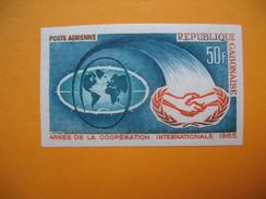 Timbre Non Dentelé   N° PA 31  Année De La Coopération Internationale   1965 - Gabon