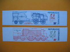 Timbre Non Dentelé   N° PA 162 Et 163   Locomotives  1975 - Gabon