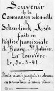 Communion Solennelle De Scheerlinck Josée à La Louvière Bouvy. - Communion