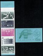 Svezia Sweden Schweden Suede 1983 Booklet  Nobel Prize Winners 5v  Complete Set  ** MNH - Svezia