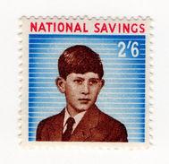 (I.B) Cinderella Collection : National Savings - Prince Charles 2/6d (1960) - 1952-.... (Elizabeth II)
