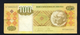 ANGOLA  -  2011  100 Kwanzas  Circulated Banknote  Serial Number And Condition As Scans - Angola