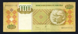 ANGOLA  -  1999  100 Kwanzas  Circulated Banknote  Serial Number And Condition As Scans - Angola
