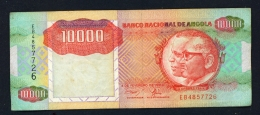 ANGOLA  -  1991  10000 Kwanzas  Circulated Banknote  Serial Number And Condition As Scans - Angola
