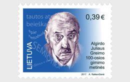 LITHUANIA 2017 World Famous People Of Lithuanian Origin - 100th Anniversary Of Algirdas Julius Greimas - Lithuania