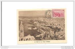 Carte Maximum Oran Journée Philatelique Oran 1958 - Maximum Cards