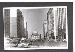 Rio De Janeiro,Brazil-Avenue Presidente Vargas-Igreja Da Candelaria 1950s Autos RPPC  - Antique Postcard - Rio De Janeiro