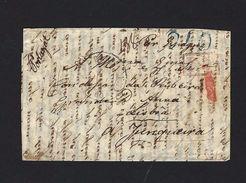 """1840 Letter PARIS (France) To LISBOA (Portugal) """"via Spain"""". Postmarks: PP=PORT PAYÉ / 240 Reis / Tours / Bordeaux - ...-1853 Préphilatélie"""