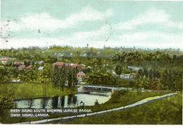 OWEN SOUND, Ontario, Canada, Owen Sound South Showing Jubilee Bridge, 1906 Postcard, Grey County - Ontario