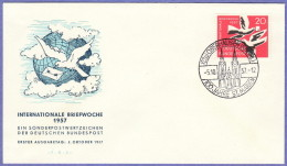 GER SC #775  1957 International Letter Writing Week FDC 10-05-1957 - FDC: Covers