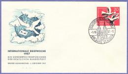 GER SC #775  1957 International Letter Writing Week FDC 10-05-1957 - [7] Federal Republic
