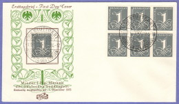 GER SC #737  1955 Numeral FDC 12-01-1955 - [7] Federal Republic