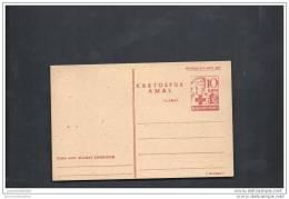 Entier Postal Type Infirmiere Imprimés En Rouge - Indonesia