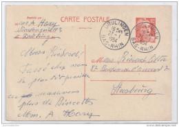 Entier Postal12 F Gandon Oblitérée Urulingen Bas Rhin - Postal Stamped Stationery
