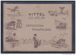 Entier Postal 40c Paix Repiquage Exposition Philatelique Vittel 1934 - Ganzsachen