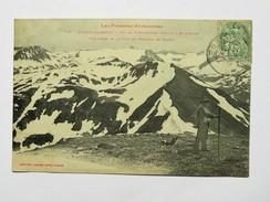 C.P.A. 09 AULUS LES BAINS : Pic De Tres Comtes Et D' Aubé Prise Le 18 Juin Animé, Chien, En 1907 - France