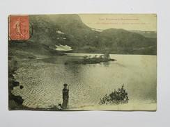 C.P.A. 09 AULUS LES BAINS : Etang De Lers, Animé, En 1907 - France