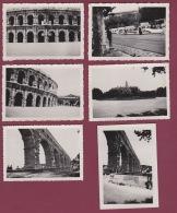 281017 - 6 PHOTOS 1947 - 30 NIMES Fêtes Du Rhône écoliers Du Languedoc Académie Provençale étoile Villeneuvoise Snapshot - Nîmes