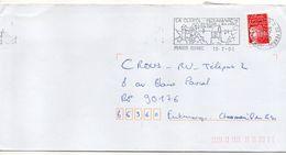 """Flamme-2000-LA CLARTE-PLOUMANACH-22-PERROS-GUIREC """"ses Rochers,son Granit,son Port """"--type Marianne Luquet......à Saisir - Postmark Collection (Covers)"""