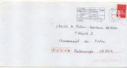 """Flamme --2000--LOOS- 59 """" Eurasante-Pôle D'activités Santé """"--type Marianne Luquet......à Saisir - Postmark Collection (Covers)"""