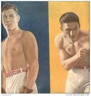 BOX BOXING BOXEO - LAMINA DE LA REVISTA EL GRAFICO DE 1937 BOXEADORES DEMPSEY Y CARPENTIER - Altri