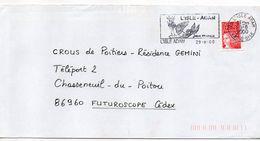 """Flamme --2000--L'ISLE ADAM--95-"""" Sirène , Signée Jean Marais """"--type Marianne Luquet......à Saisir - Postmark Collection (Covers)"""