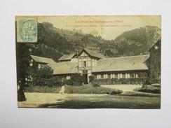 C.P.A. 09 AULUS LES BAINS : L' Etablissement Thermal, Animé, En 1906 - France