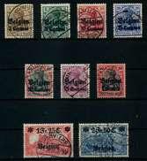 BES 1WK LP BELGIEN Nr 1-9 Gestempelt X77B02E - Besetzungen 1914-18