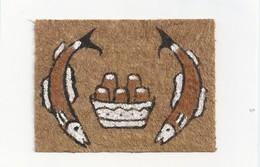 Papoeakunst Op Geklopte Boomschors - Ornament Motief - Brood En Vissen - Irian Jaya - Nieuw Guinea; Indonesie - - Aziatische Kunst