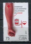 Cuba 2017 / Blood Donors MNH Donantes De Sangre / Cu5501  1 - Cuba