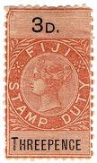 (I.B) Fiji Revenue : Stamp Duty 3d - Fiji (...-1970)
