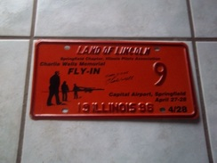 PLAQUE IMMATRICULATION AMERICAINE USA EVENEMENTIELLE ILLINOIS MEETING AERIEN AVIATION 1996 USA LICENSE PLATE !!! - Plaques D'immatriculation