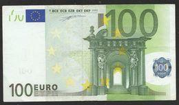 "GREECE:  ""Y"" 100  EURO  DUISENBERG Signature!!  ""Y""   Printer  P005C2 Number Starts With 4 Zeros!! Extr. Rare! - 100 Euro"