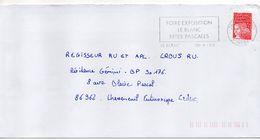 """Flamme Temporaire--2000--LE BLANC-36-""""Foire Exposition-Fêtes Pascales """"--type Marianne Luquet......à Saisir - Postmark Collection (Covers)"""